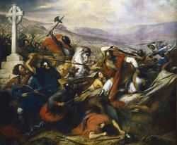Charles Martel en la batalla de Poitiers