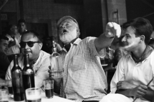 Lords of the drinks [http://lordsofthedrinks.com/2014/07/15/ernest-hemingway-nobel-prize-winning-author-and-a-huge-drunk/ ]