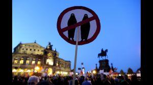 Protesta en Dresden (Alemania del Este), 12 de octubre, 2015. Foto AFP, Robert Michael