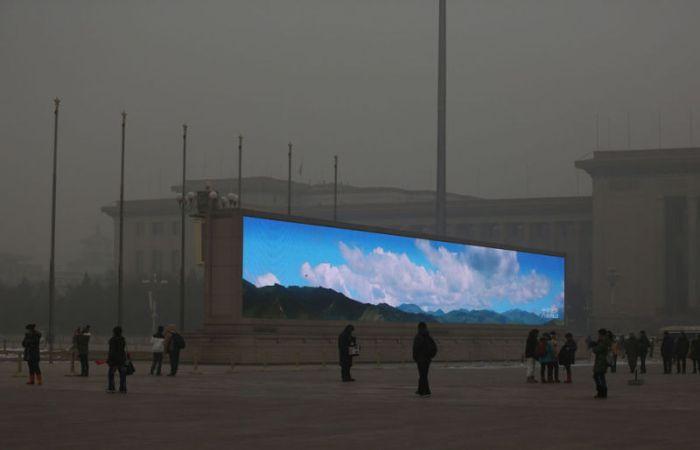 La única manera de ver un cielo azul y nubes. (Casey Chan)