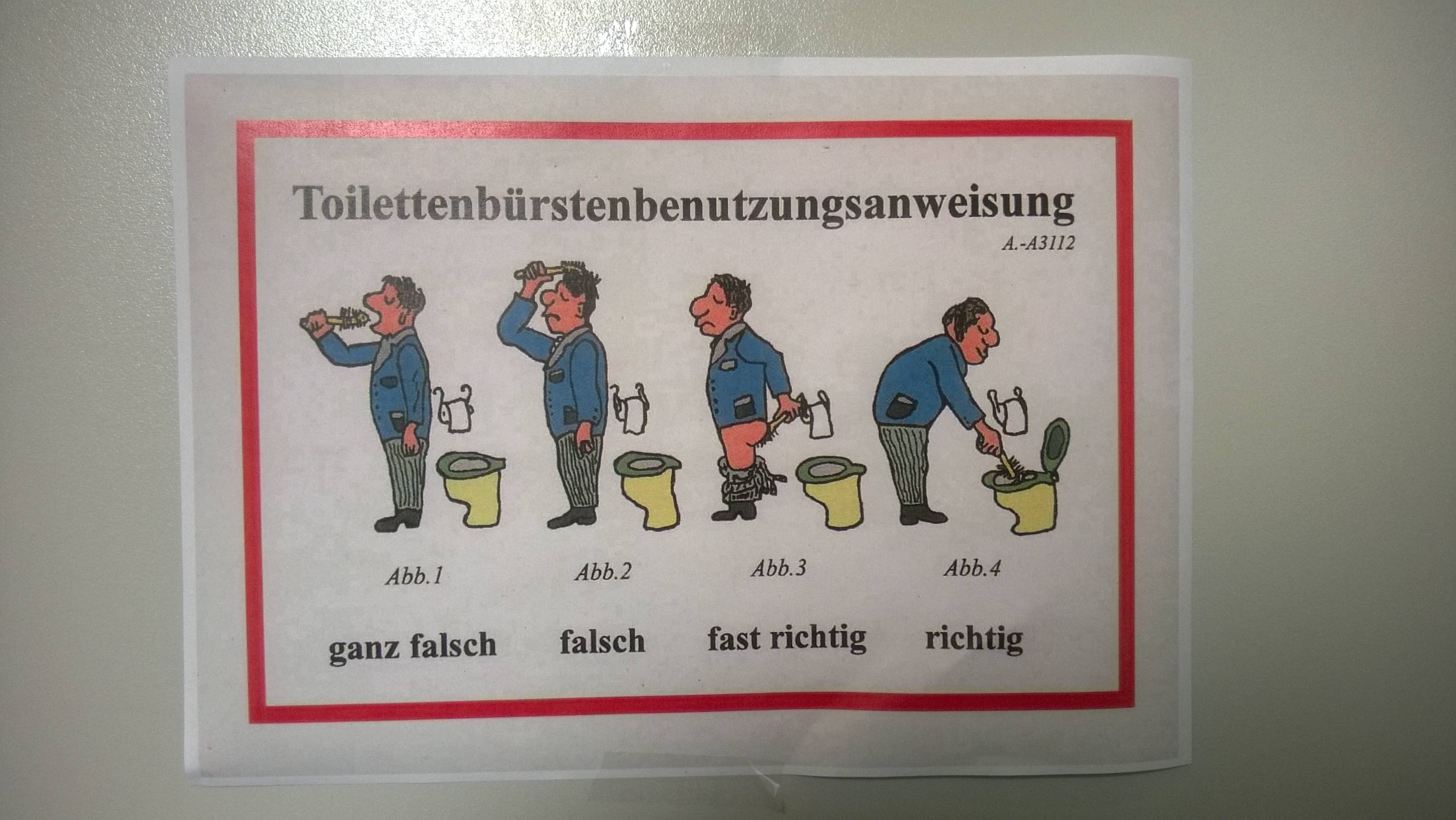 La ideología del inodoro alemán